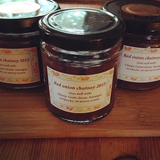 A Recipe For the Perfect Onion Chutney/Marmalade