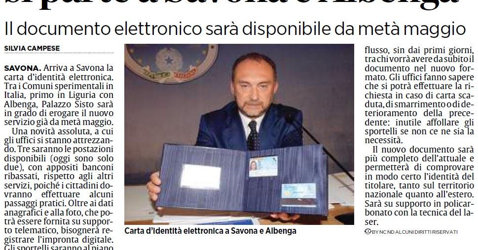 Alassiofutura savona carte di identit con il 39 chip for Diretta da montecitorio