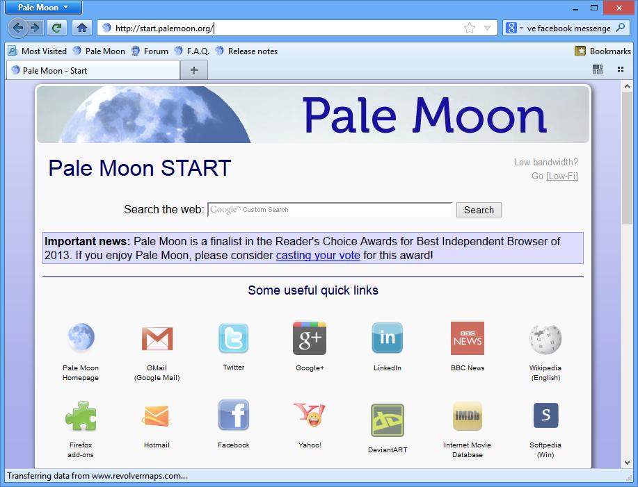 Pale Moon 28.5.0