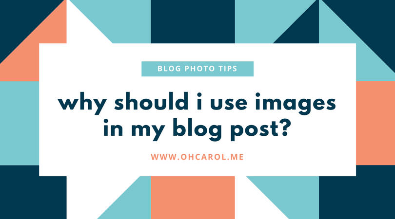 why should i use photos in my posts?
