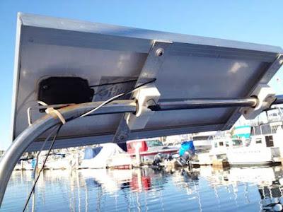 installing solar boats