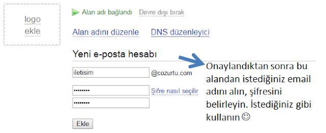 Yandex kurumsal maili Godaddy'den aldığınız domaine entegre etme
