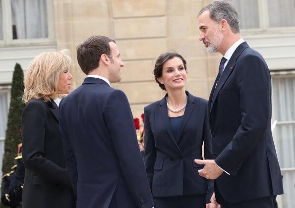Znalezione obrazy dla zapytania: king felipe and queen letizia in france 2020