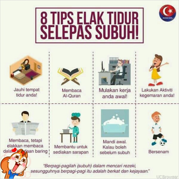 Tips elak tidur selepas tidur