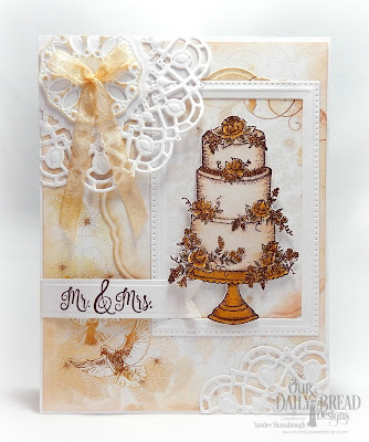 Our Daily Bread Designs Stamp Set: Long Lasting Love, Paper Collection:Wedding Wishes, Custom Dies:Pierced Rectangles, Doily, Pennant Flags