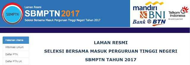 Pendaftaran SBMPTN (Seleksi Bersama Masuk Perguruan Tinggi Negeri) Tahun 2017