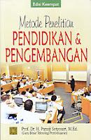 Judul Buku : METODE PENELITIAN PENDIDIKAN DAN PENGEMBANGAN EDISI KE EMPAT Pengarang : Prof. Dr. H. Punaji Setyosari, M.Ed Penerbit : Kencana