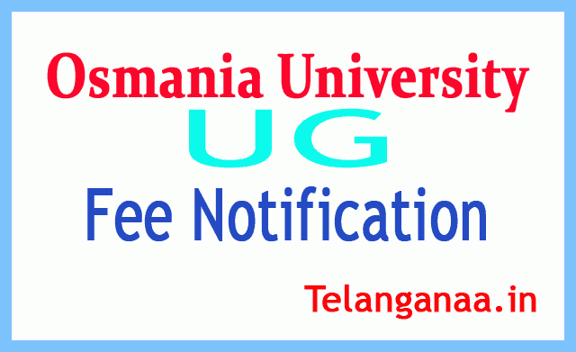 OU UG  Examination Fee Notification
