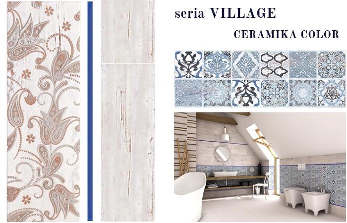 ceramika color village | płytki śródziemnomorskie | niebieski patchwork płytki