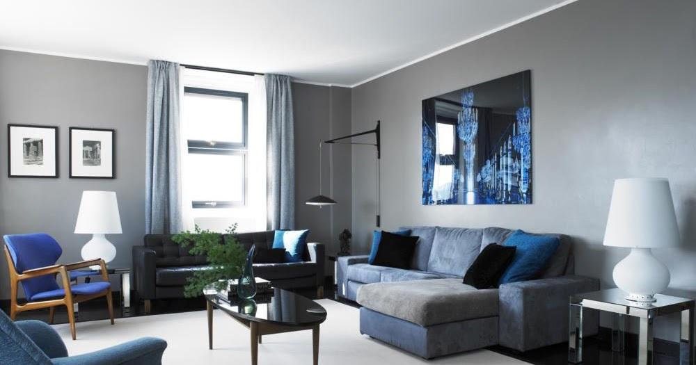 Salas en gris y azul salas con estilo for Salas clasicas modernas