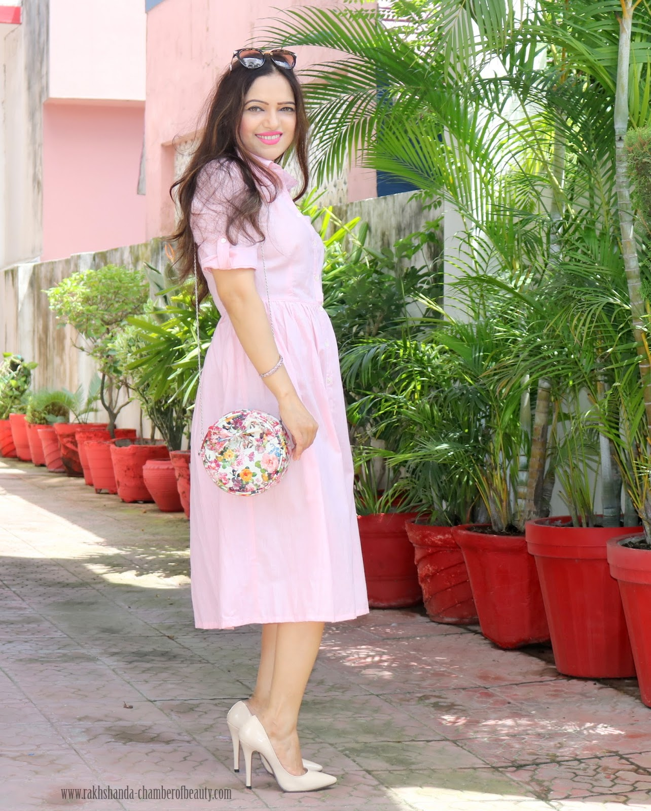 Pretty In Pink - How to Style a Shirt Dress