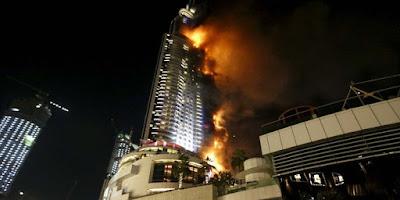 Malam Tahun Baru, Hotel Pencakar Langit Di Dubai Terbakar