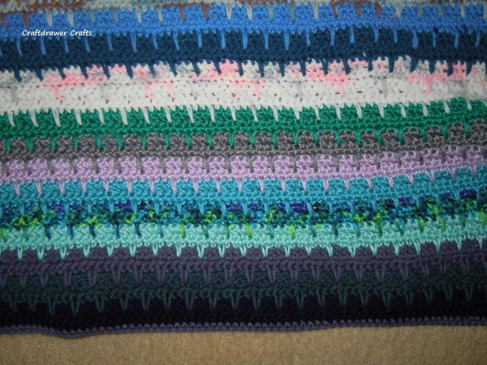 Free Crochet Pattern Easy to Crochet V-Stitch Scrap Yarn Afghan