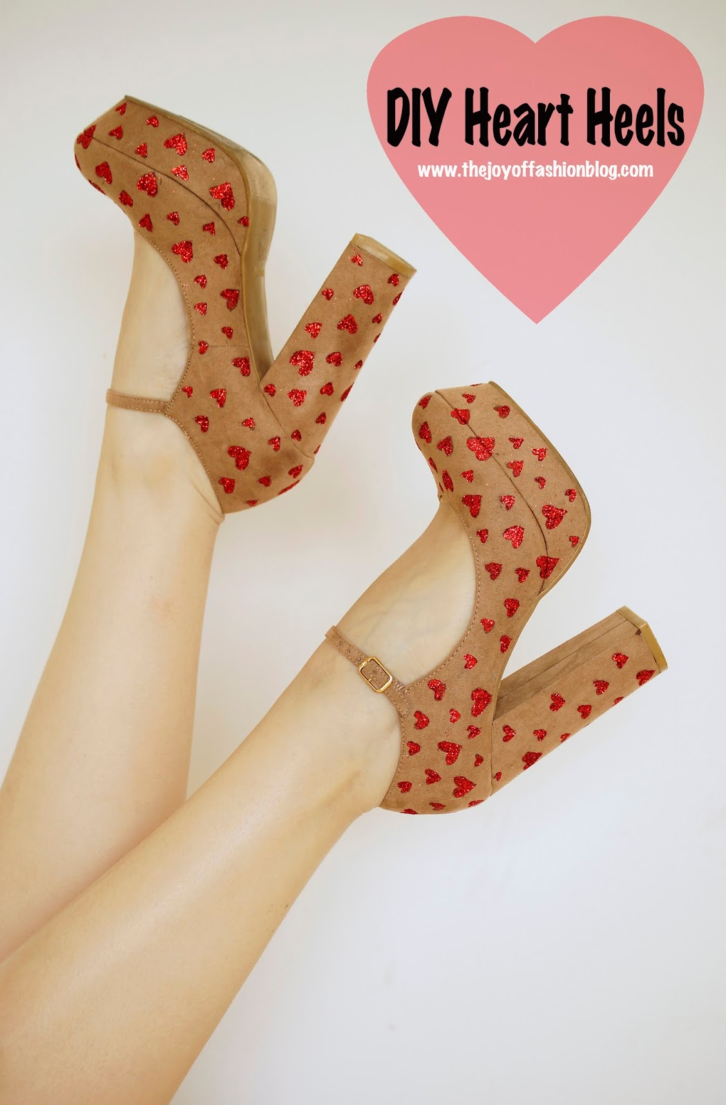Cute Homemade Valentines Day Shoes. Click through for full tutorial!