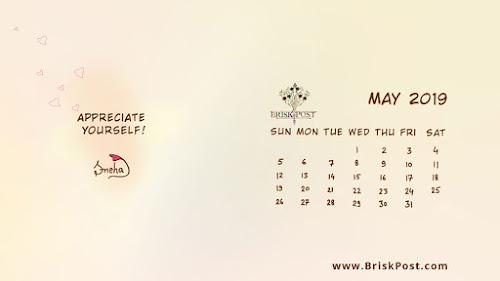 May 2019 Calendar