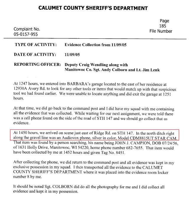 What Really Happened to Teresa Halbach?: An Audiovox Cell Phone Was