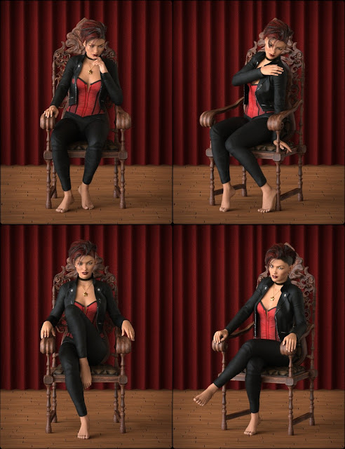 Noble Poses and Props for Genesis 3 Female and Genevieve 7