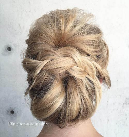 chignon ,delightful, updos for long hair