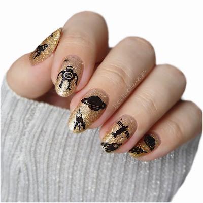 kosmiczne stemple do paznokci