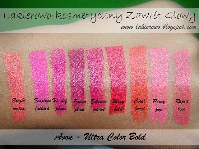 szminka Avon Ultra Color Bold