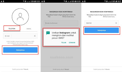 Buat Akun Instagram Lewat HP