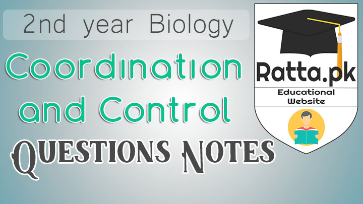 2nd Year Biology Chapter 17 Coordination and Control Notes - Short Questions