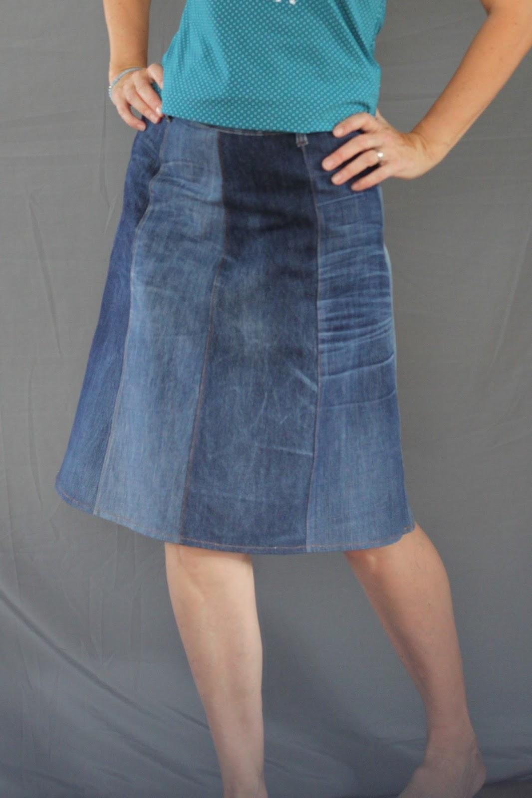 Fadegrad Juperock Aus Gebrauchten Jeans Jeansrecycling