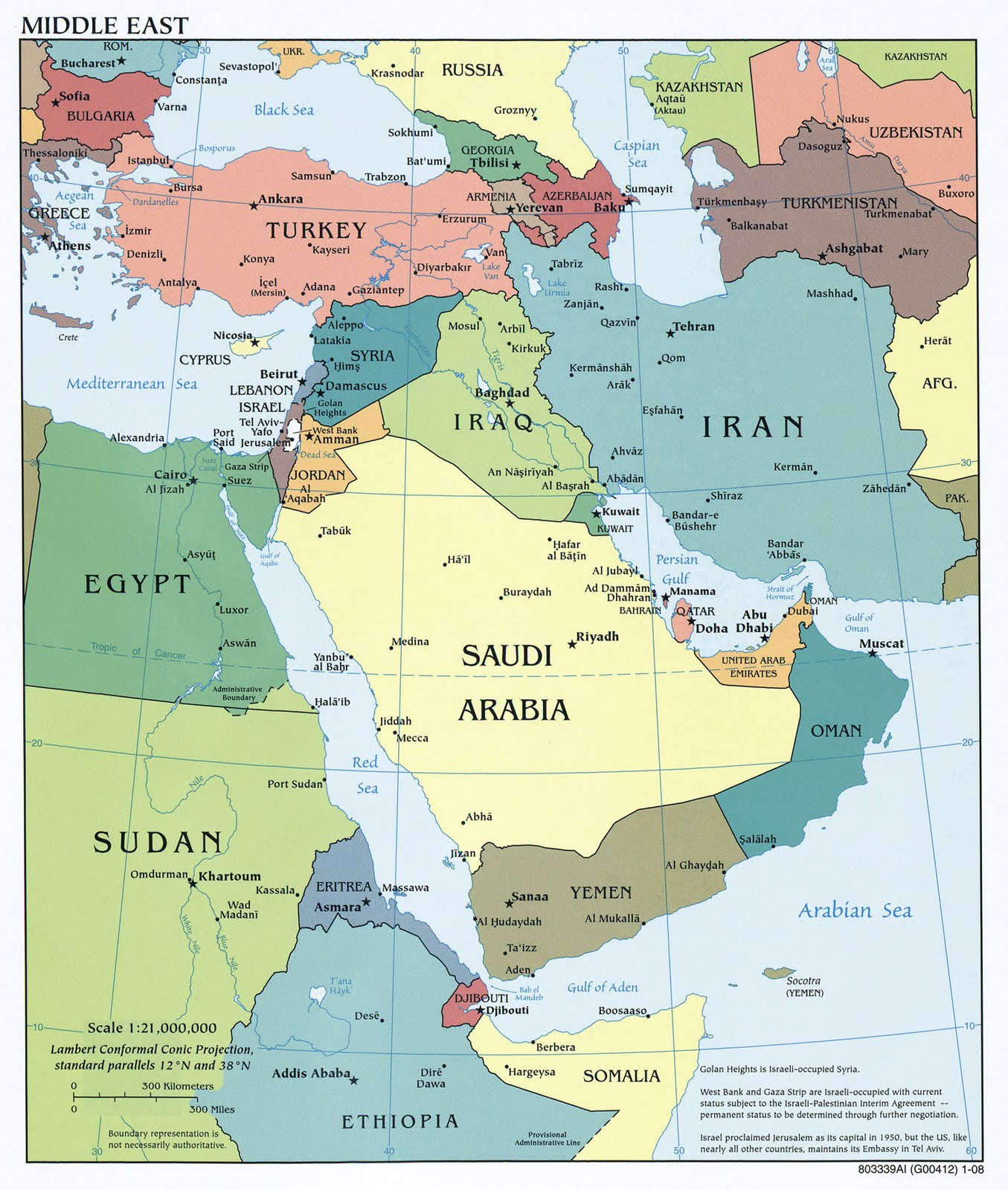 Kaart Topografie Landen Midden Oosten Kaart Landen Midden Oosten