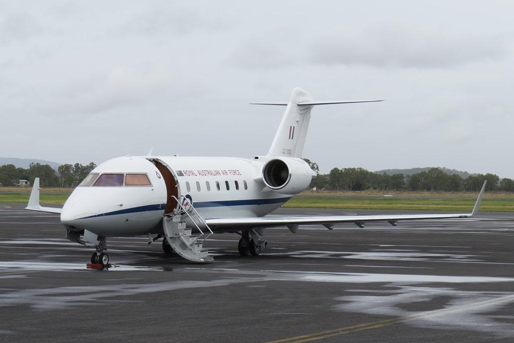 Central Queensland Plane Spotting  Raaf Challenger 604
