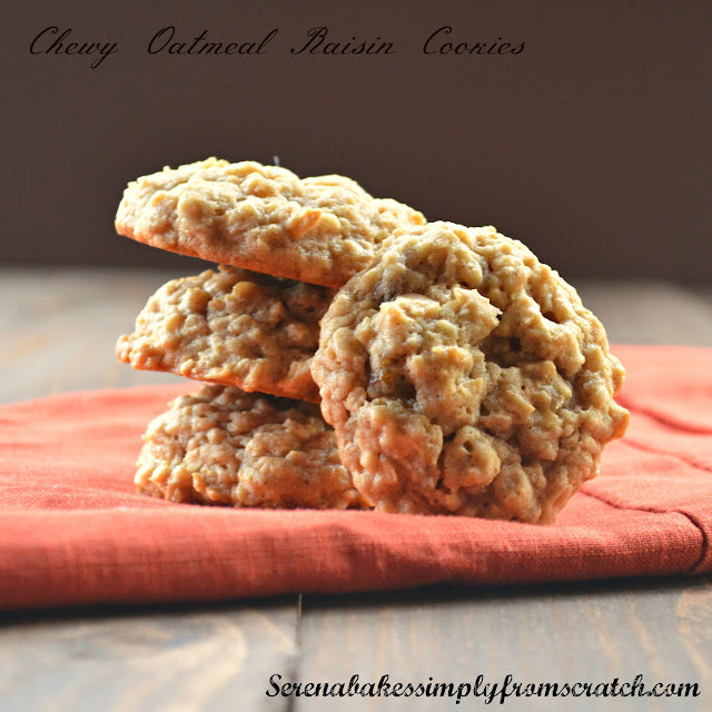 Chewy Spiced Oatmeal Raisin Cookies