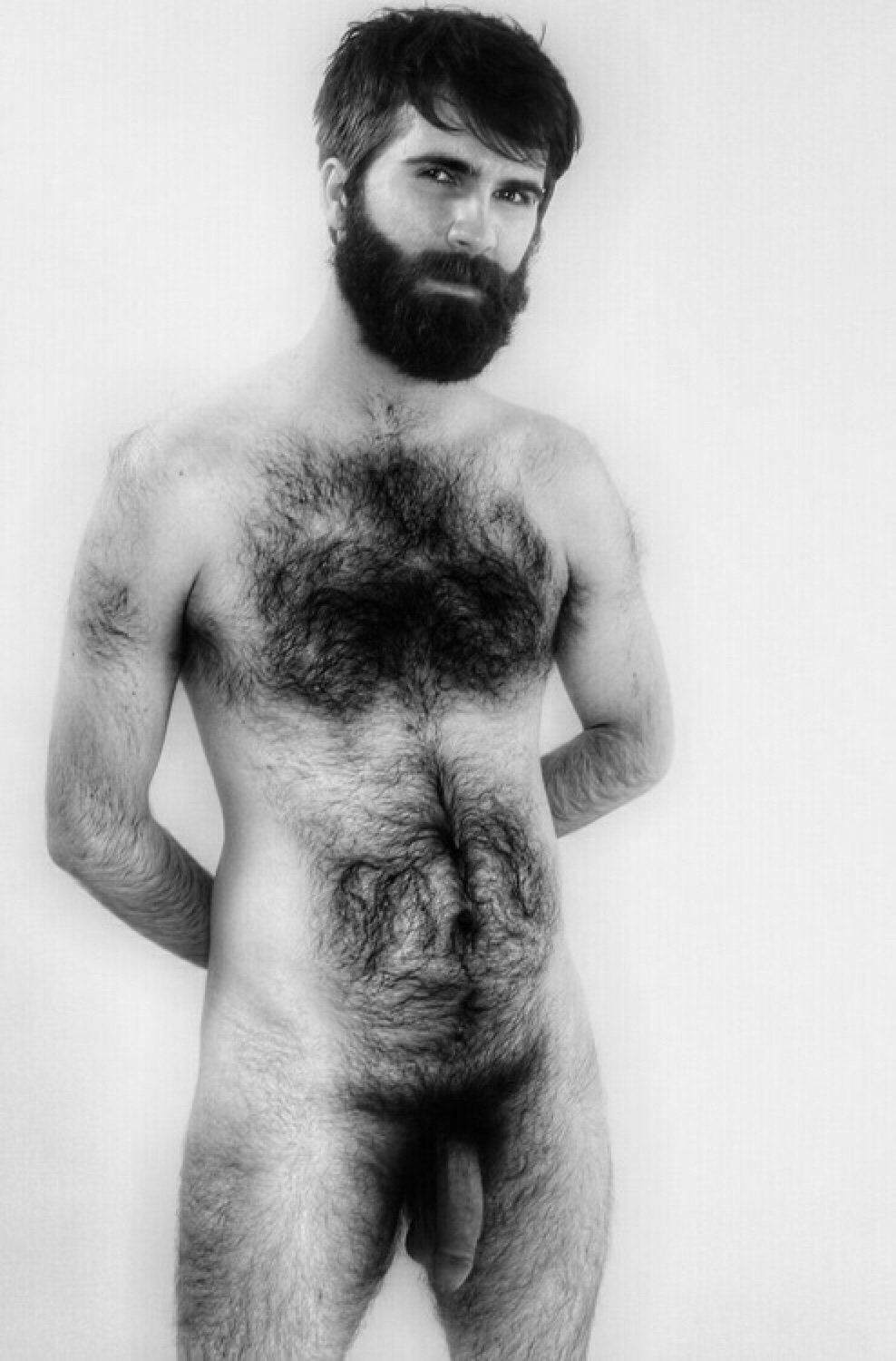 Naked hairy chested husband