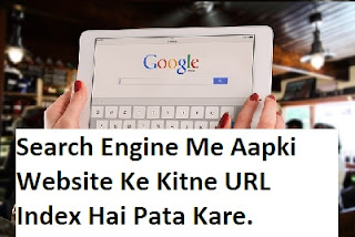 Search EngineE Me Aapki Website Ke Kitne URL Index Hai Kaise Pata