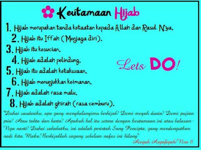 Keutamaan Memakai Hijab