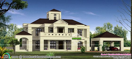 6340 sq-ft luxury Colonial touch home