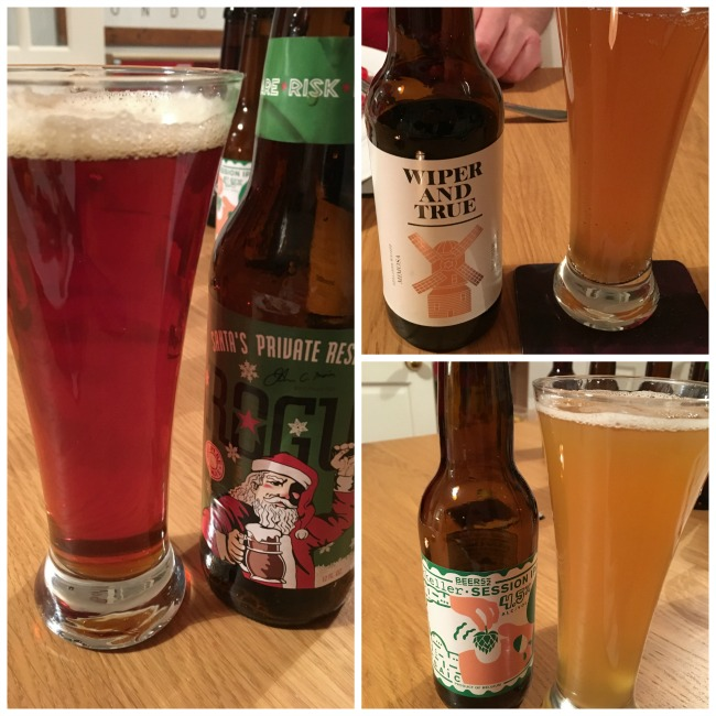 Beer52-craft-beer-subscription-box-review-image-of-beer-bottles-and-bee-poured-into-glasses