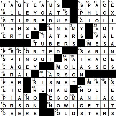 WEB's L A  Times Crossword Solution @ LAXCrossword com