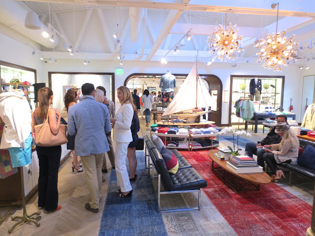 Inside the Tommy Hilfiger flagship store in Los Angeles at the Surf Shack Collection launch party