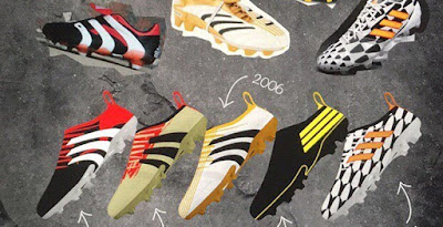 the latest d4dd8 5c402 Awesome Adidas Glitch 1998, 2002, 2006, 2010  2014 World Cup Concept Boots  by Chris Pottle