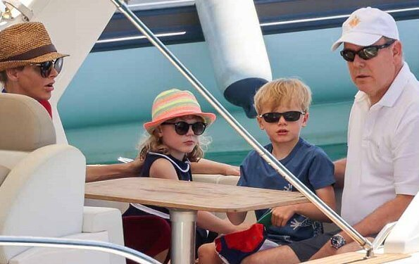 Princess Charlene, Prince Albert and their children Hereditary Prince Jacques and Princess Gabriella are taking a holiday in Corsica