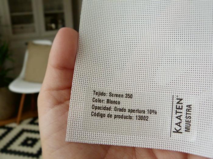 cortinas kaaten muestra tejido screen