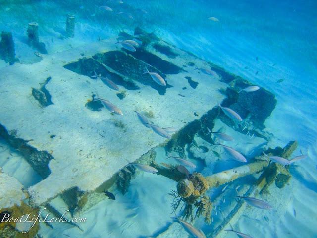 Underwater wreck, Bahamas