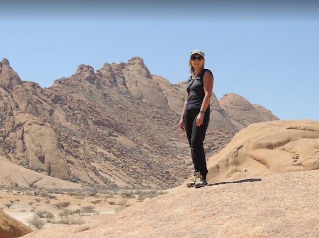 io allo Spitzkoppe in Namibia