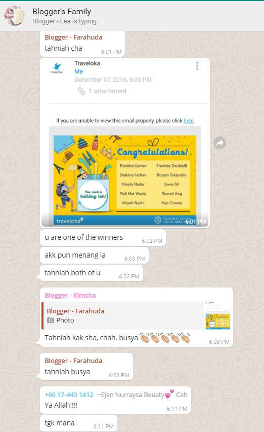 Menang Weekly Prize by Traveloka
