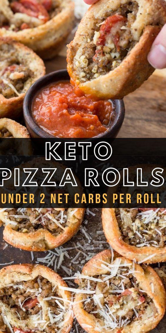 Keto Pizza Rolls