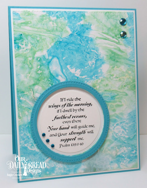 ODBD Surging Sea, ODBD Custom Pierced Circles Dies, ODBD Custom Pierced Rectangles Dies, Card Designer Angie Crockett
