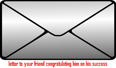 write a letter to your friend congratulating him on his success in the examination