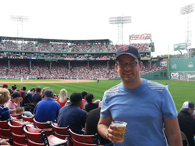 Me posing at Fenway Park