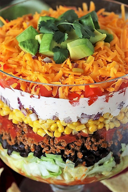 Make-Ahead Layered Taco Salad Image