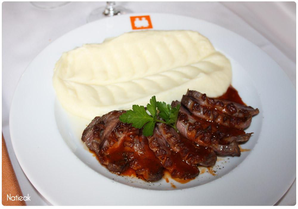 Magret de canard et aligot par le chef Emmerich de Backer