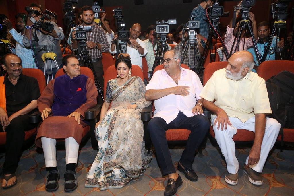 Sridevi at MOM Movie Trailer Launch Stills